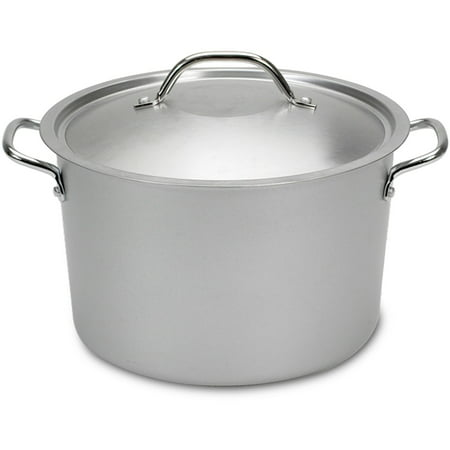 Nordic Ware 8-Quart Restaurant Stock Pot with Lid, Metallic