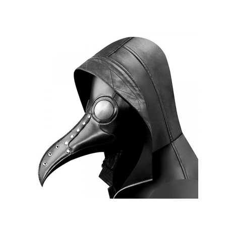 Doctor Who Costumes For Adults (Topumt Halloween Plague Doctor Mask Bird Long Beak PU Leather Steampunk)