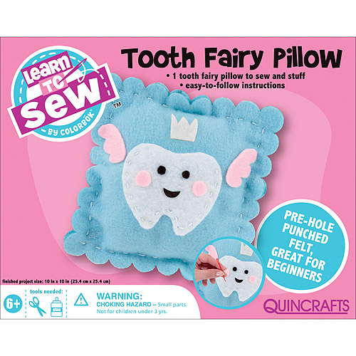Quincrafts Learn to Sew: Tooth Fairy Pillow Kit