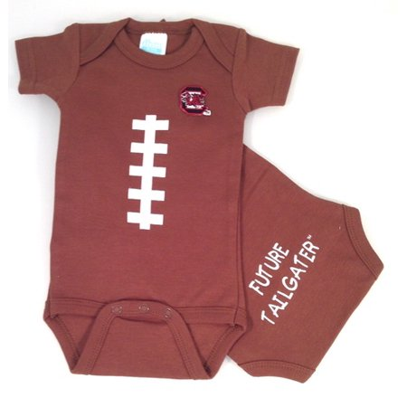 74349fc3a South Carolina Gamecock Baby Football Onesie - Walmart.com