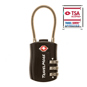 TSA Luggage Lock - 1 Black Cable Travel Locks