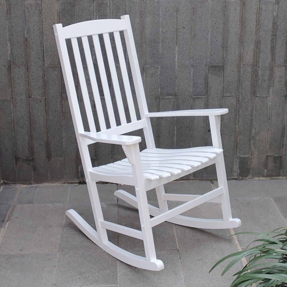 Mainstay Wooden Rocking Chair: Mainstays Outdoor Rocking Chair, White