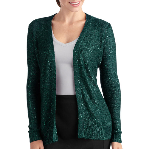 Women's Sequined Flyaway Cardigan
