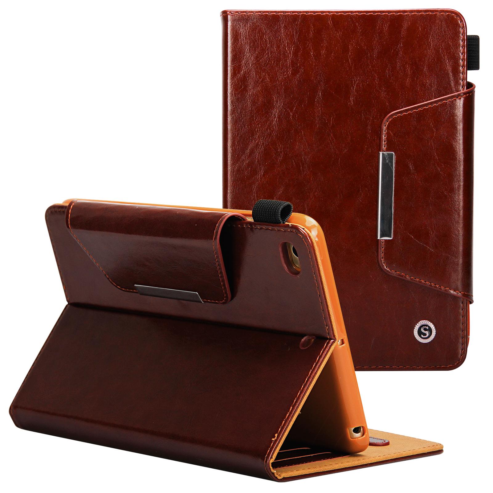 iPad Mini 1/2/3/4 Case - Goodest Slim Fit PU Leather Folio Smart Folio Stand Case with Auto Wake/Sleep Magnetic Cover for Apple iPad Mini 4/ Mini 3/ Mini 2/ Mini 1, Brown