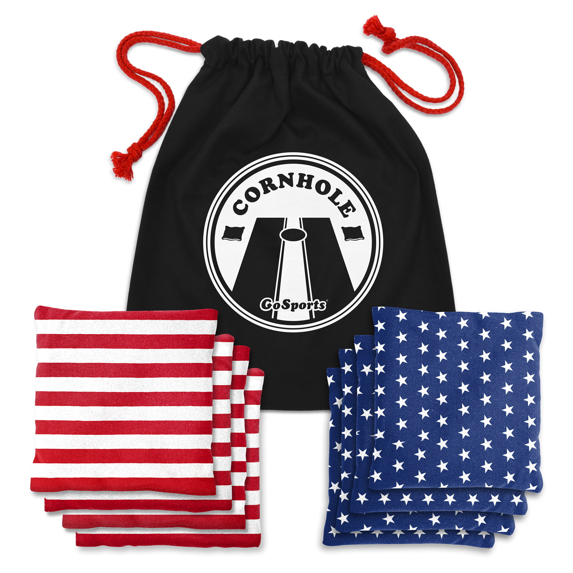 GoSports American Flag All-Weather Duck Cloth Regulation Cornhole Beanbag Set of 8, Stars... by P&P Imports LLC