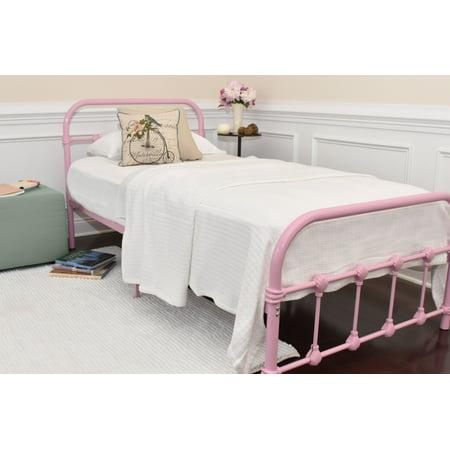 Rose Twin Metal (Rack Furniture Melissa Metal Bed, Twin, Multiple)