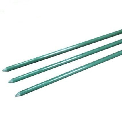 "EcoStake stainless Garden Stakes Fence Post, Netting Post, 1/2"" x 72'', Pack of 20, Green"
