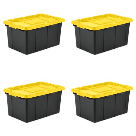 Sterilite, 27 Gal./102 L Industrial Tote, Yellow Lily, Case of
