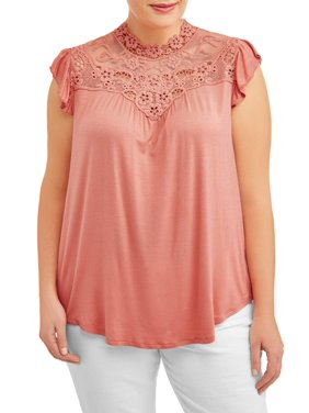 be7b4a2890132 Product Image Women s Plus Size Delicate Lace Front Blouse