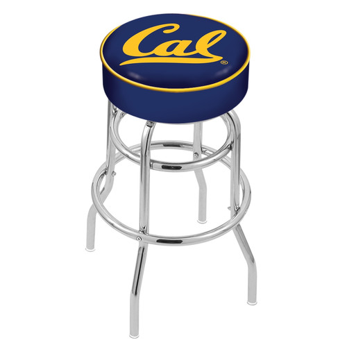 NCAA Swivel Stool with Double Ring Base by Holland Bar Stool, 25'' - Cal Bears