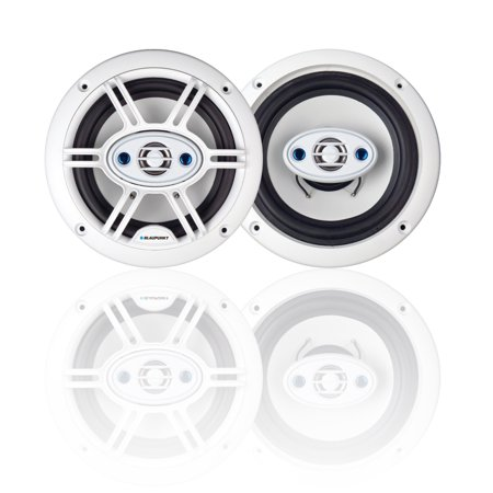 Blaupunkt GTM652W Car Speaker 6.5 Inch 4-Way Marine White Color (P3 Car Speakers)