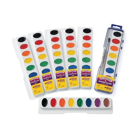 Colorations Regular Best Value Watercolor Paints - Set of 6 Refills, 8 Colors (Item # (Best Cheap Face Paint)