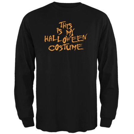 My Funny Cheap Halloween Costume Black Adult Long Sleeve T-Shirt (Funny Double Acts For Halloween)