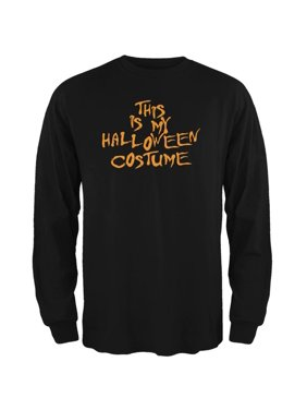 cf011457e2de64 Product Image My Funny Cheap Halloween Costume Black Adult Long Sleeve T- Shirt