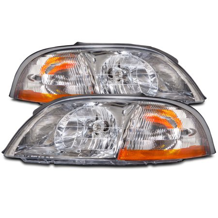 1999-2003 Ford Windstar New Headlights Set FO2502166 & FO2503166 (Ford Windstar Center Caps)