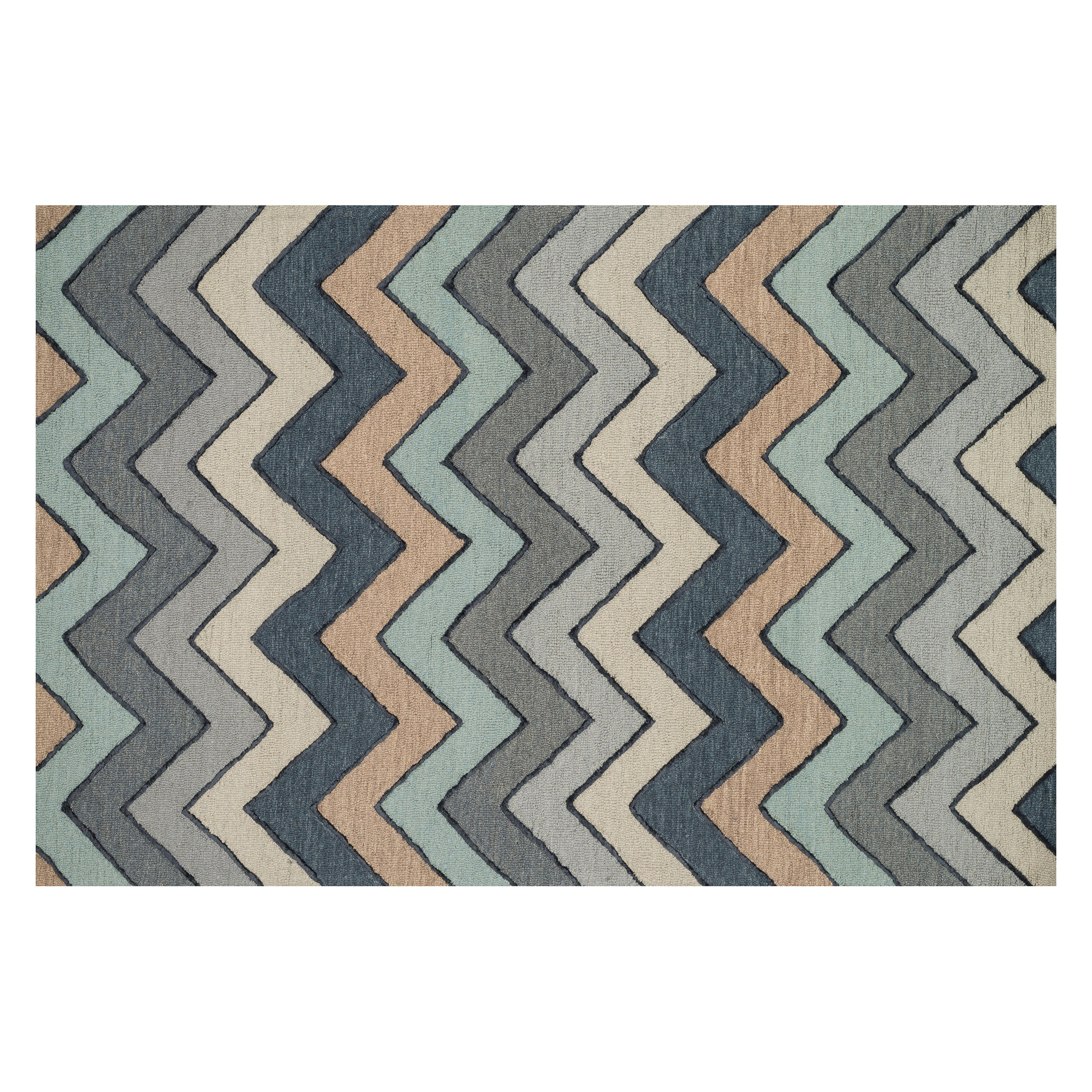 "Loloi Rugs PANAPC-14GYML3656 Panache Collection Area Rug, Grey/Multicolor, 3 6"" x 5 6"""