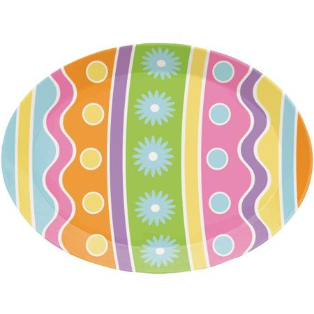 Creative Converting Easter Egg 14 Inch Plastic Tray ()
