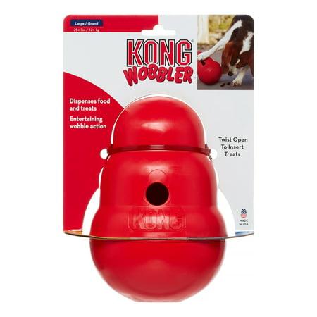 Dog Kong Dispenser - KONG Wobbler Dog Toy, Large