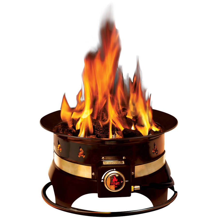 Outland Firebowl Premium 19 in. Steel Portable Propane Fire Pit with Cover & Carry Kit