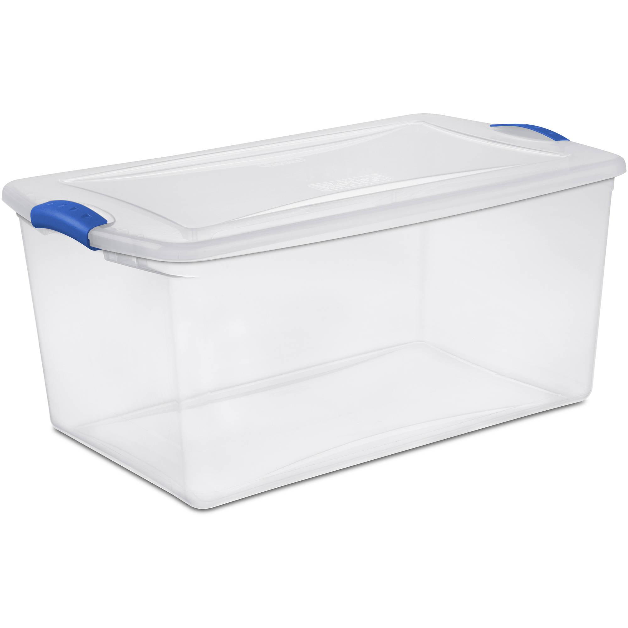 sc 1 st  Walmart & Sterilite 66 Quart Latch Box- Blue Morpho Case of 6 - Walmart.com