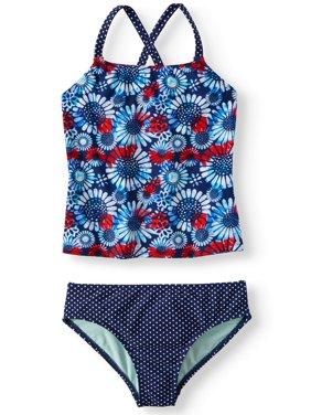 f442ee51ccf3 Product Image Cross-back Tankini Swimsuit (Little Girls