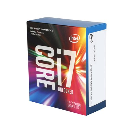 Intel Core i7-7700K Kaby Lake Quad-Core 4.2 GHz LGA 1151 91W BX80677I77700K Desktop