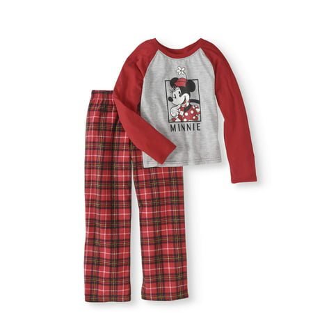 Minnie Girls' 2-Piece Sleep Set (Girls Pajamas Size 16)