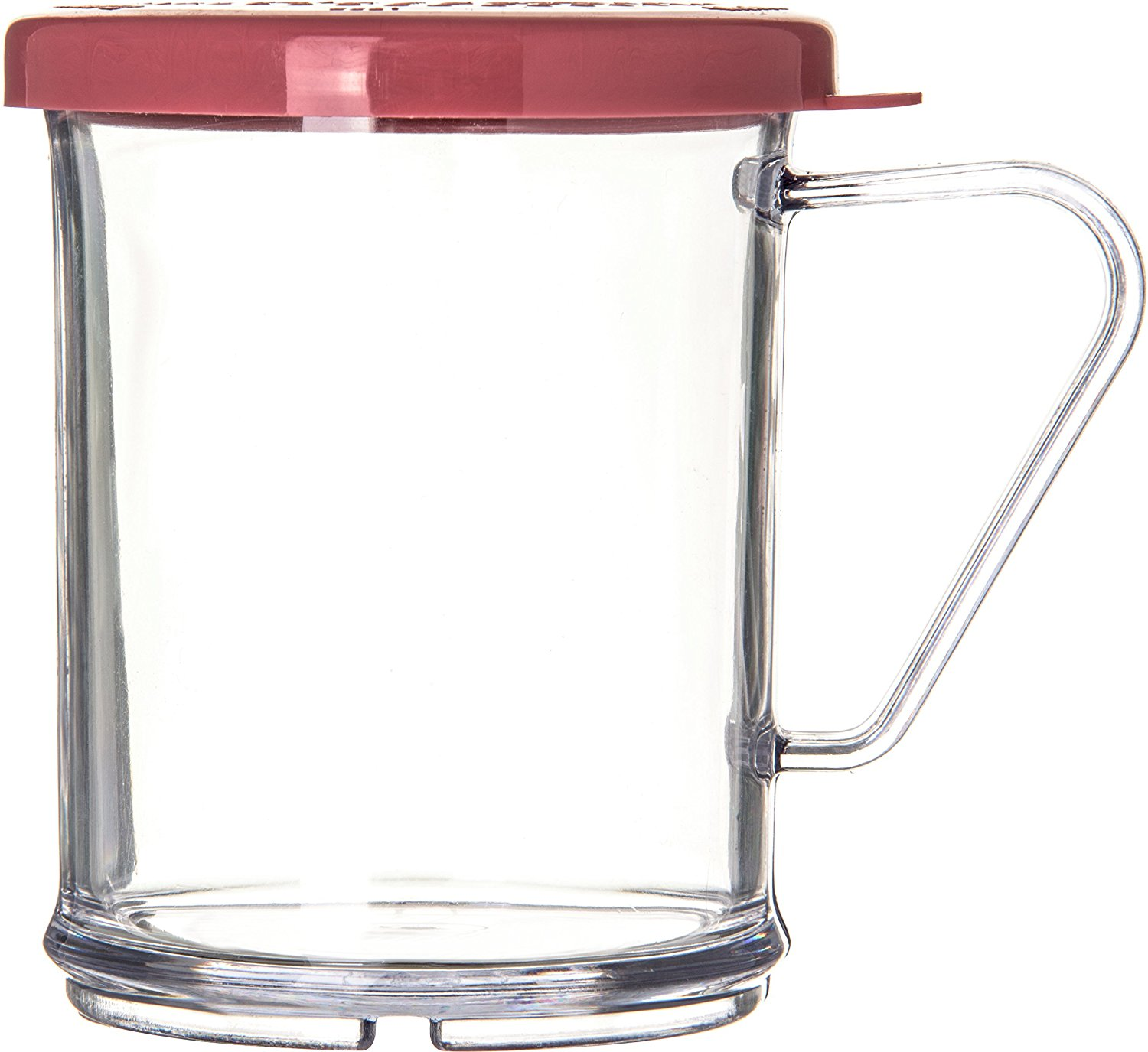 Carlisle 425055 Polycarbonate Shaker/Dredge with Medium Ground Rose Lid, 9-oz. Capacity, Clear (Case of 12)