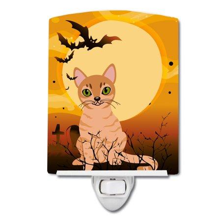 Halloween Australian Mist Cat Ceramic Night - Halloween Date Australia