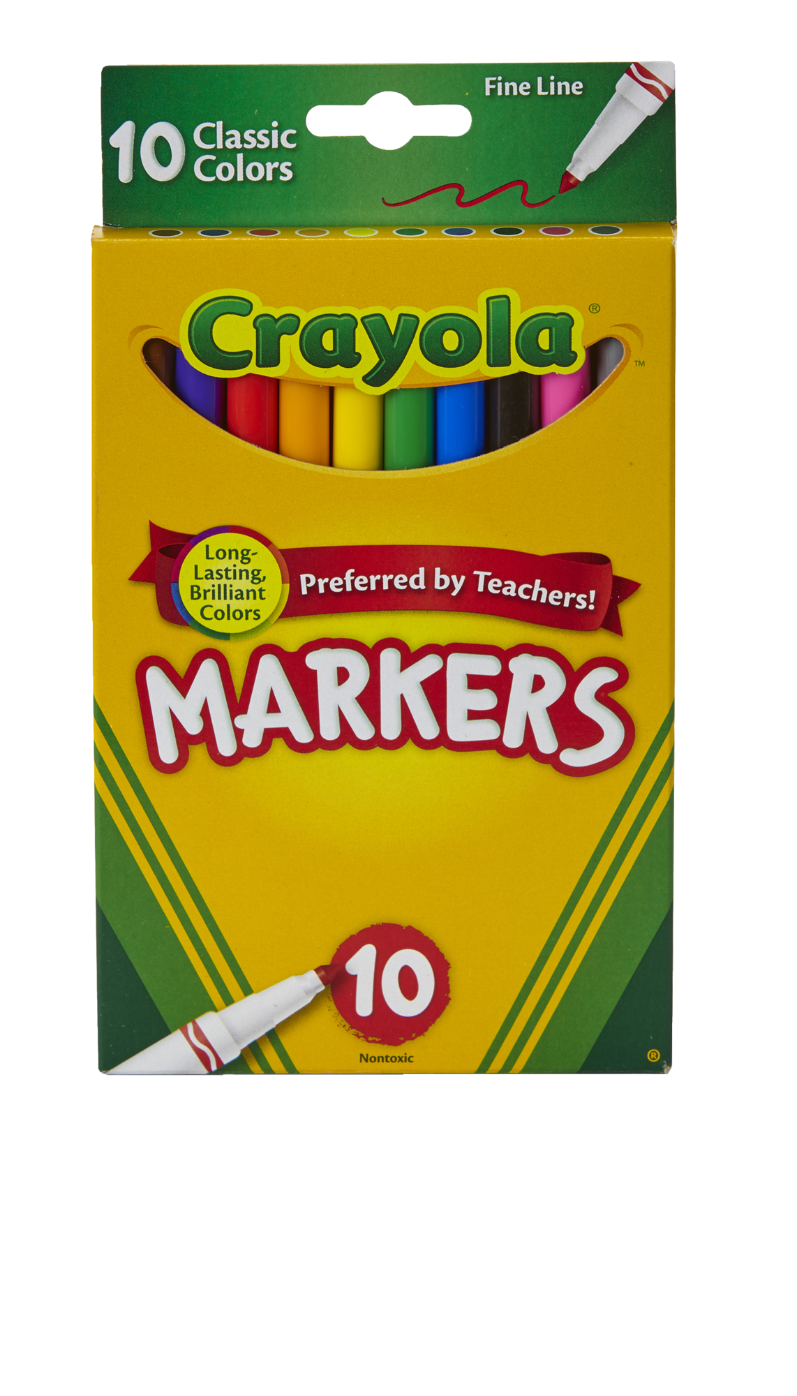 Crayola Fine Tip Marker in Assorted Classic Colors, 10 Count by Crayola LLC