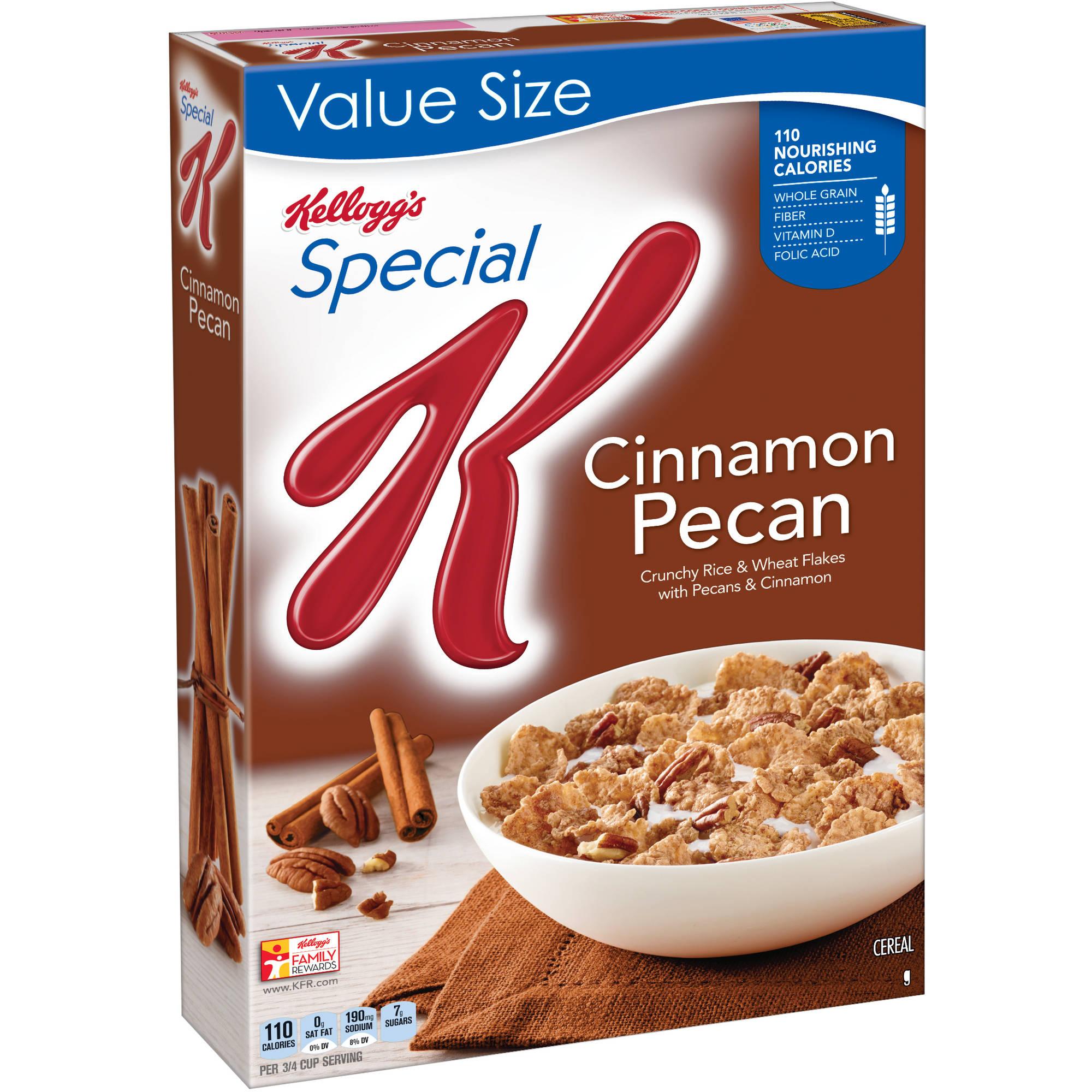 Kellogg's Special K Cinnamon Pecan Cereal, 16 ounce