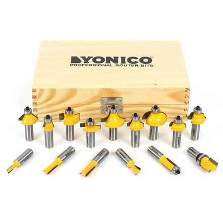 Yonico 17150 Yonico 17150 15 Bit Multi- Profile Router Bit Set 1/2' Shank, , 1/2' Shank Roundover Router Bit