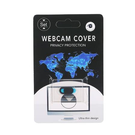 Webcam Cover Shutter Protector Slider Camera Cover Sticker for Webcam PC Laptops Mobile Phone Ellipse (Black) - image 1 de 7