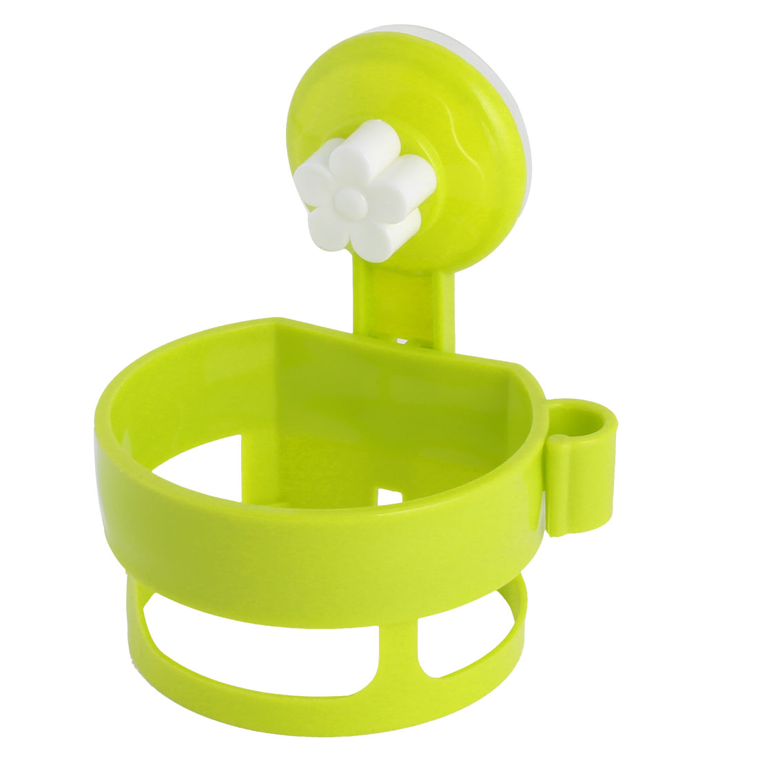 Home Suction Cup Plastic Round Hair Blow Dryer Holder Stand Rack Pale Green
