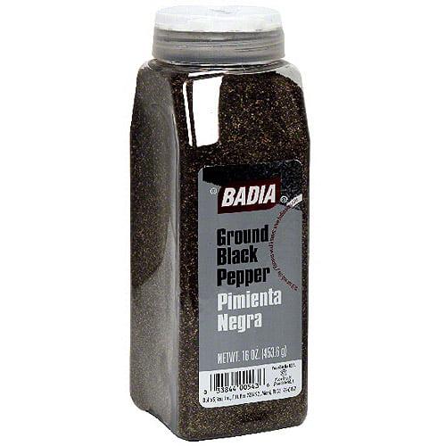 Badia Ground Black Pepper, 14 oz (Pack of 6)