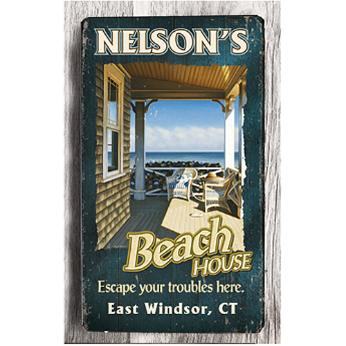 Personalized Metal Sign, Beach House