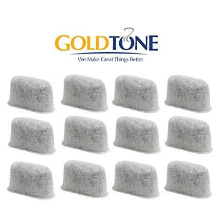 GoldTone Brand 12-Pack Replacement Charcoal Water Filter for Cuisinart Coffee Machines (Cuisinart Coffee Maker Replacement Charcoal Water Filters)