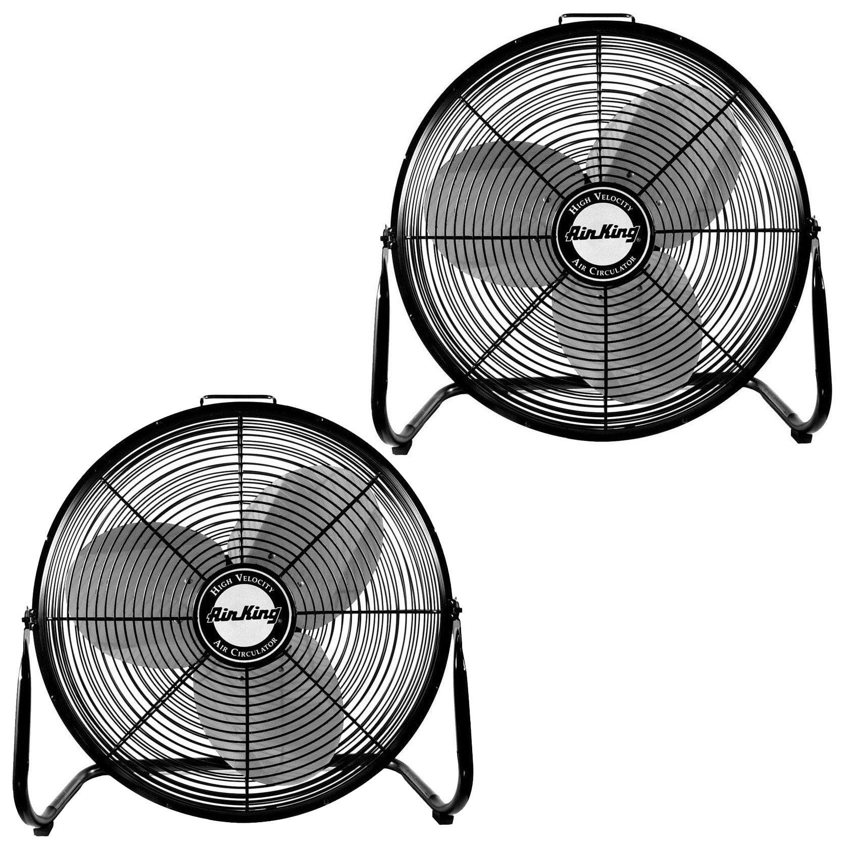 "Air King 18"" 1/6 HP 3 Speed Heavy Duty Portable Industrial Floor Fan (2 Pack)"