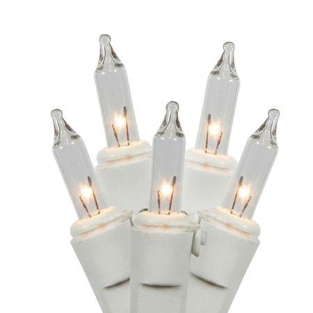 (Vickerman Clear Mini String Lights, 100 Count)