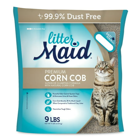 (2 Pack) Littermaid Corn Cob Natural Clumping Cat Litter,