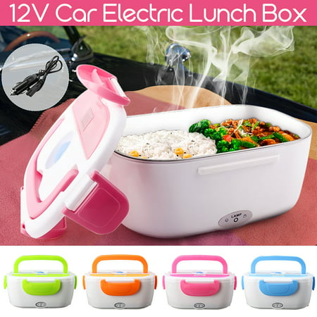 Boat Car and RV Use Portable Electric Heating Meal Lunch Box Rice Container Food Warmer with 12V Car Plug Adapter Christmas Gift ()