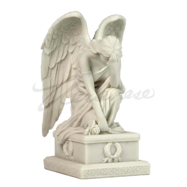 Unicorn Studios WU75761VB Weeping Angel Kneeing with Hand on The Forehead, Marble White - image 1 of 1