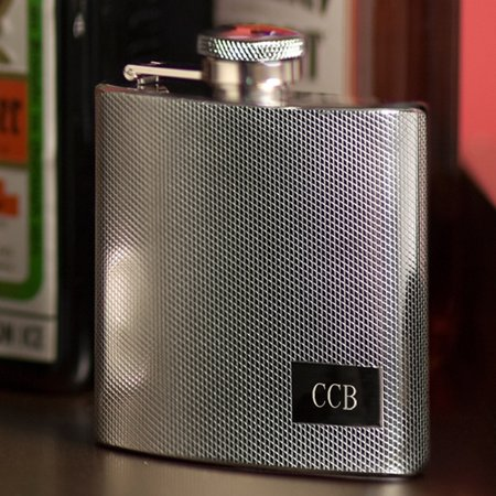 Personalized Flask Textured Stainless Steel