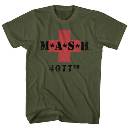 Celtic Cross Adult T-shirt - MASH 4077th M*A*S*H in Red Cross Adult T-shirt