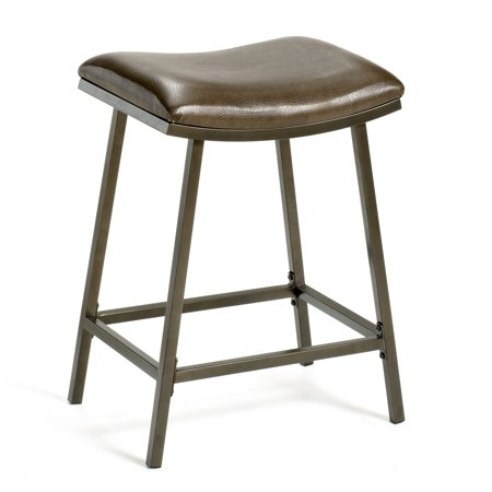 Saddle Seat with Nested Leg 24u0022 Counter Stool Metal/Brown Copper - Hillsdale Furniture
