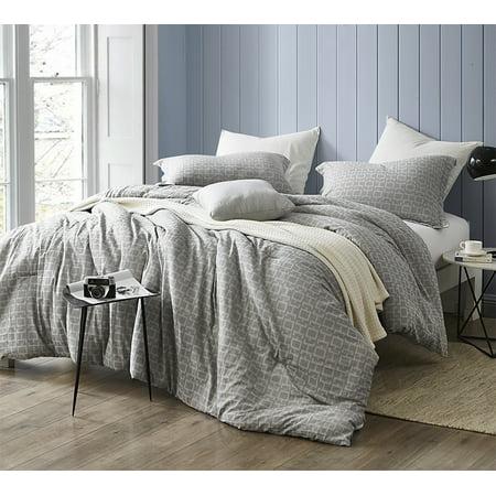 Highlands Gray Oversized Comforter 100 Yarn Dyed Cotton Bedding
