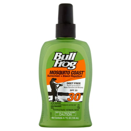 - Bull Frog Mosquito Coast Sunscreen Insect Repellent Pump Spray - SPF 30 - 4.7 oz