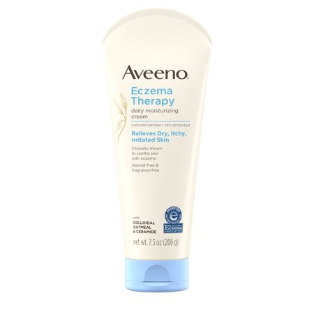 Skin Therapy Cream - Aveeno Eczema Therapy Daily Moisturizing Cream with Oatmeal, 7.3 oz
