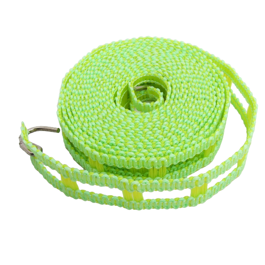 Windproof Anti-Slip Green Yellow Outdoor Clothes Hanging Line 11.5Ft