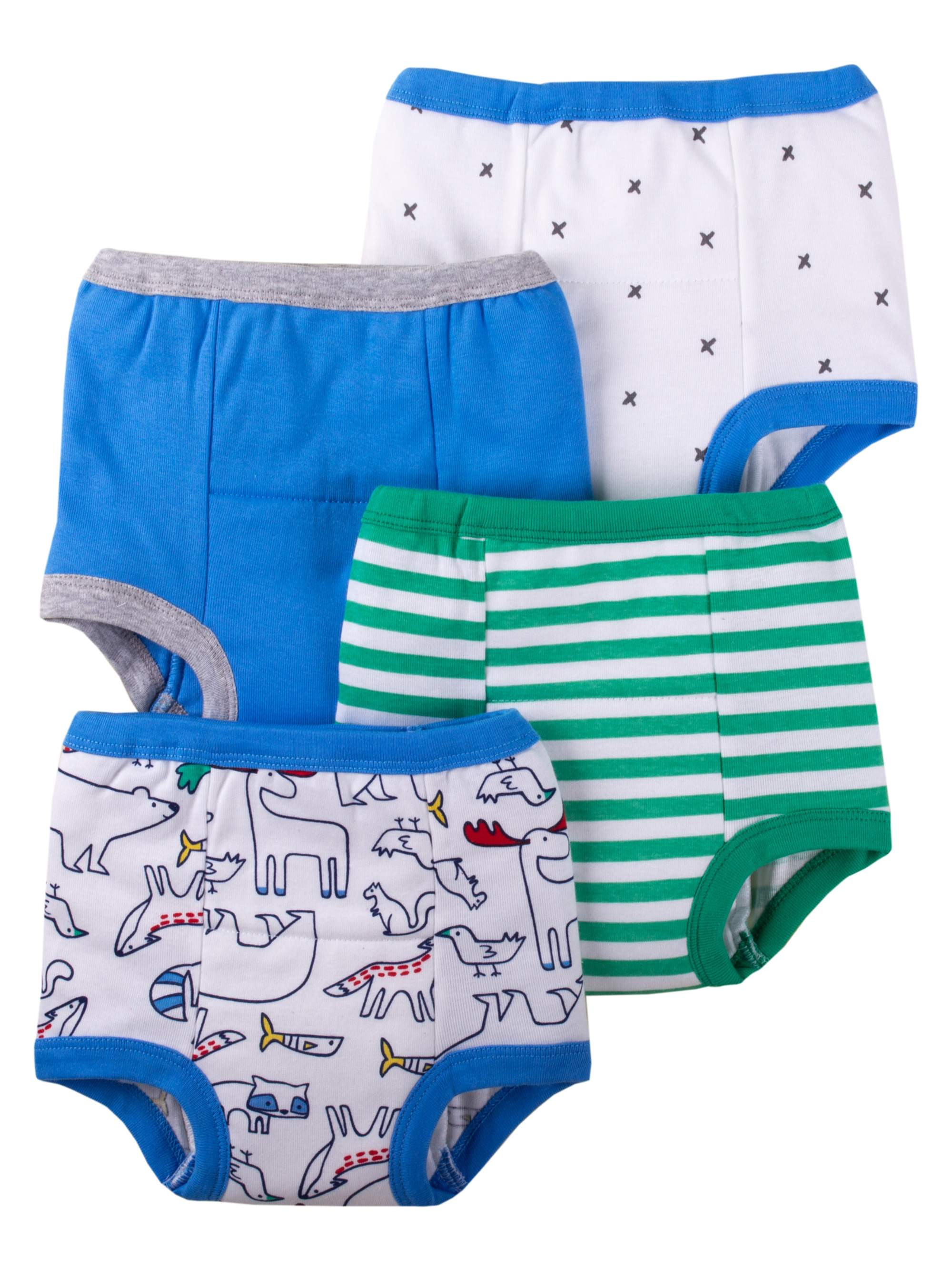 Assorted Pattern Organic Cotton Training Pants, 4-Pack (Toddler Boys)